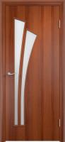 Дверь межкомнатная С-7 (Остеклённая) Итальянский орех