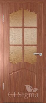 Дверь межкомнатная Сигма 32 ДР Итальянский орех