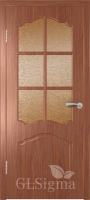 Дверь межкомнатная Сигма 32 ДО Итальянский орех