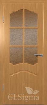 Дверь межкомнатная Сигма 32 ДР Миланский орех