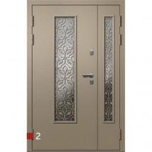 Входная дверь Фортеза Хаски 2/2 S | Встроенная система обогрева двери