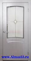 Дверь межкомнатная Румба ДО Белый жемчуг