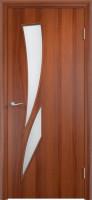 Дверь межкомнатная С-2 (Остеклённая) Итальянский орех