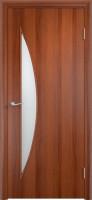 Дверь межкомнатная С-6 (Остеклённая) Итальянский орех